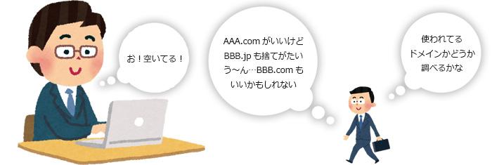 AAA.comがいいけどBBB.jpも捨てがたいう~ん…BBB.comもいいかもしれない
